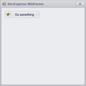 DevExpress UAC SimpleButton
