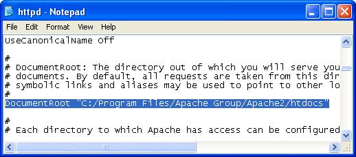 Apache Konfigürasyon Dosyası